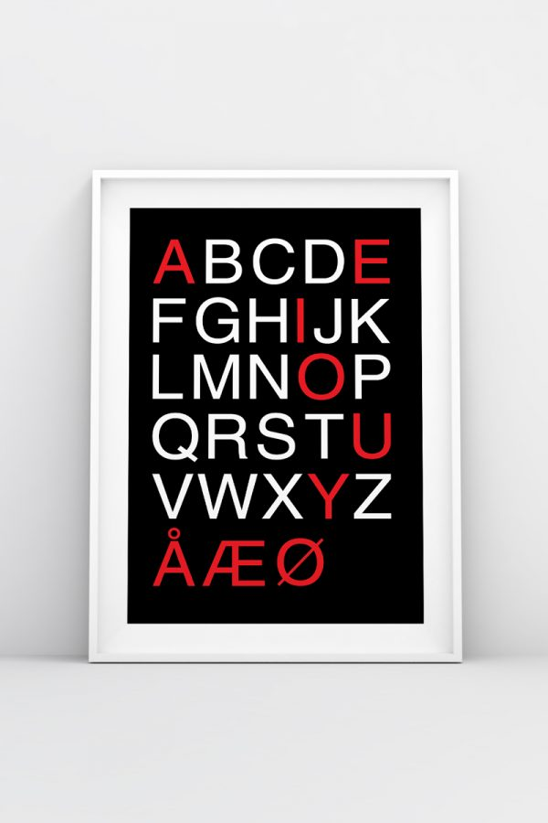 Danish Typography Print